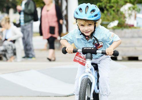 Cykelbanen på Toftegårds Plads i Valby