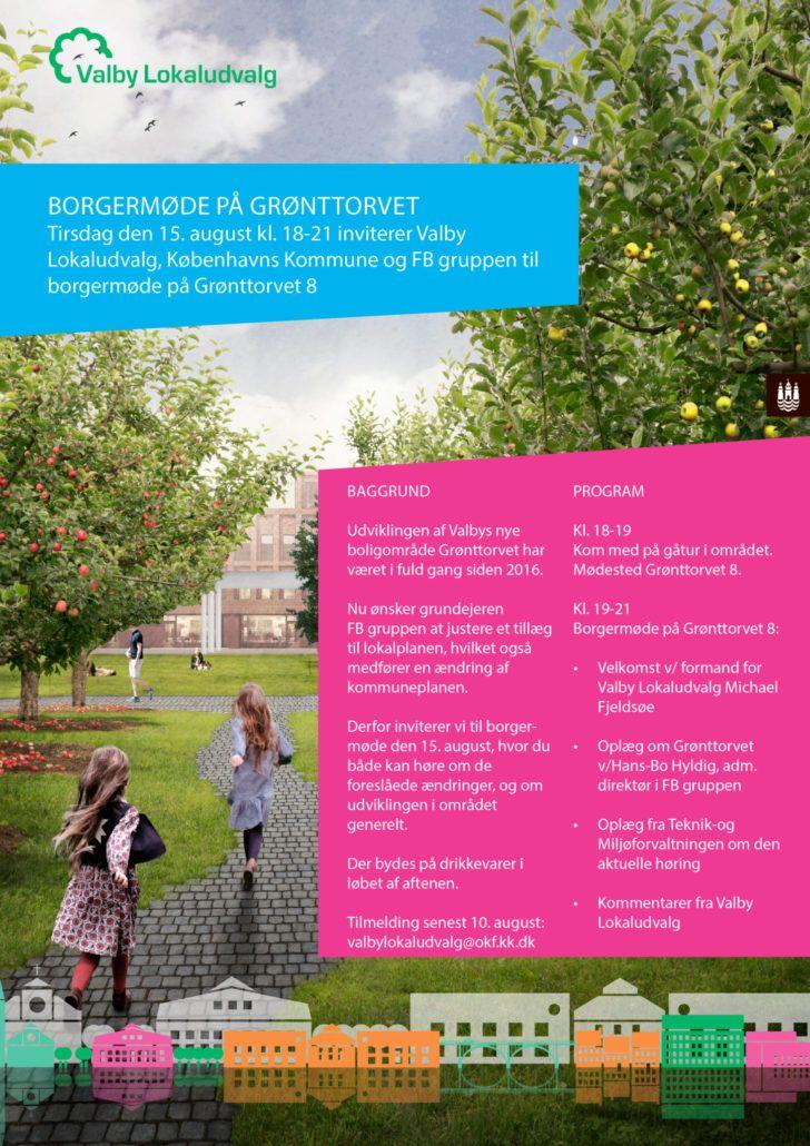 Invitation til borgermøde Grønttorvet 15. august