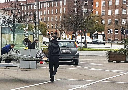 Cykelbanen Toftegårds Plads Valby Lokaludvalg