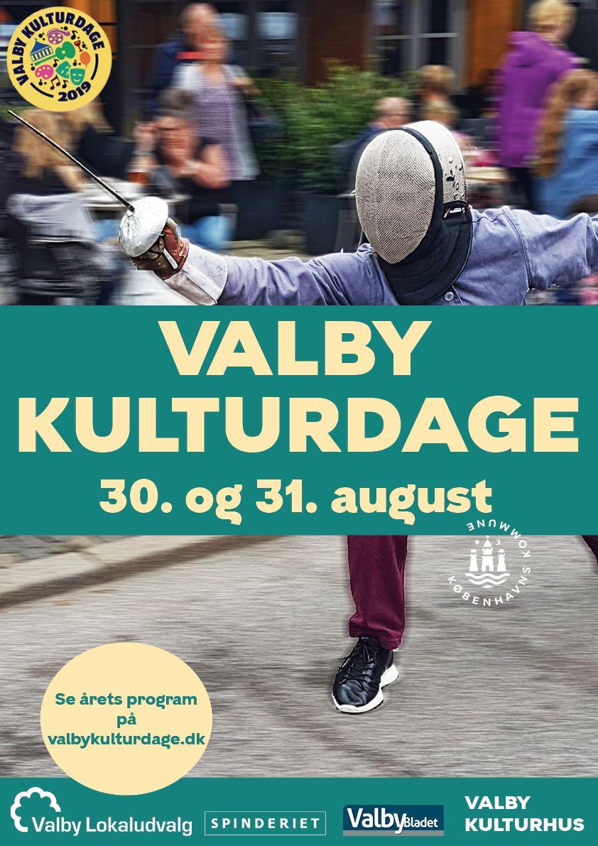 Plakat Valby Kulturdage 2019 fægtning final