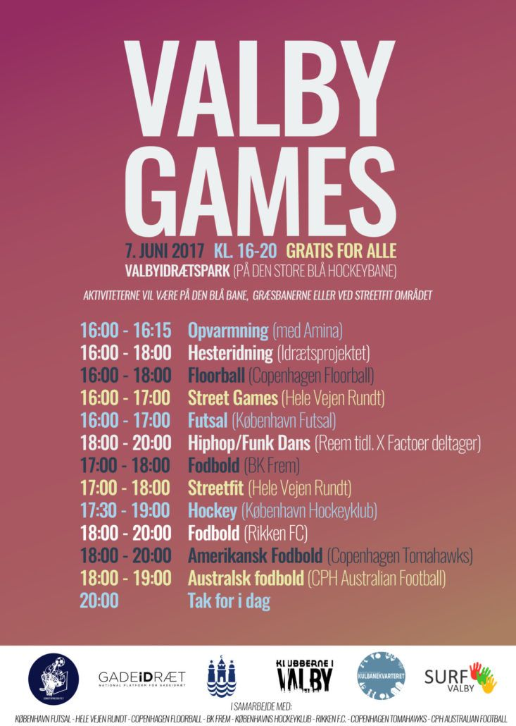 Valby Games flyer