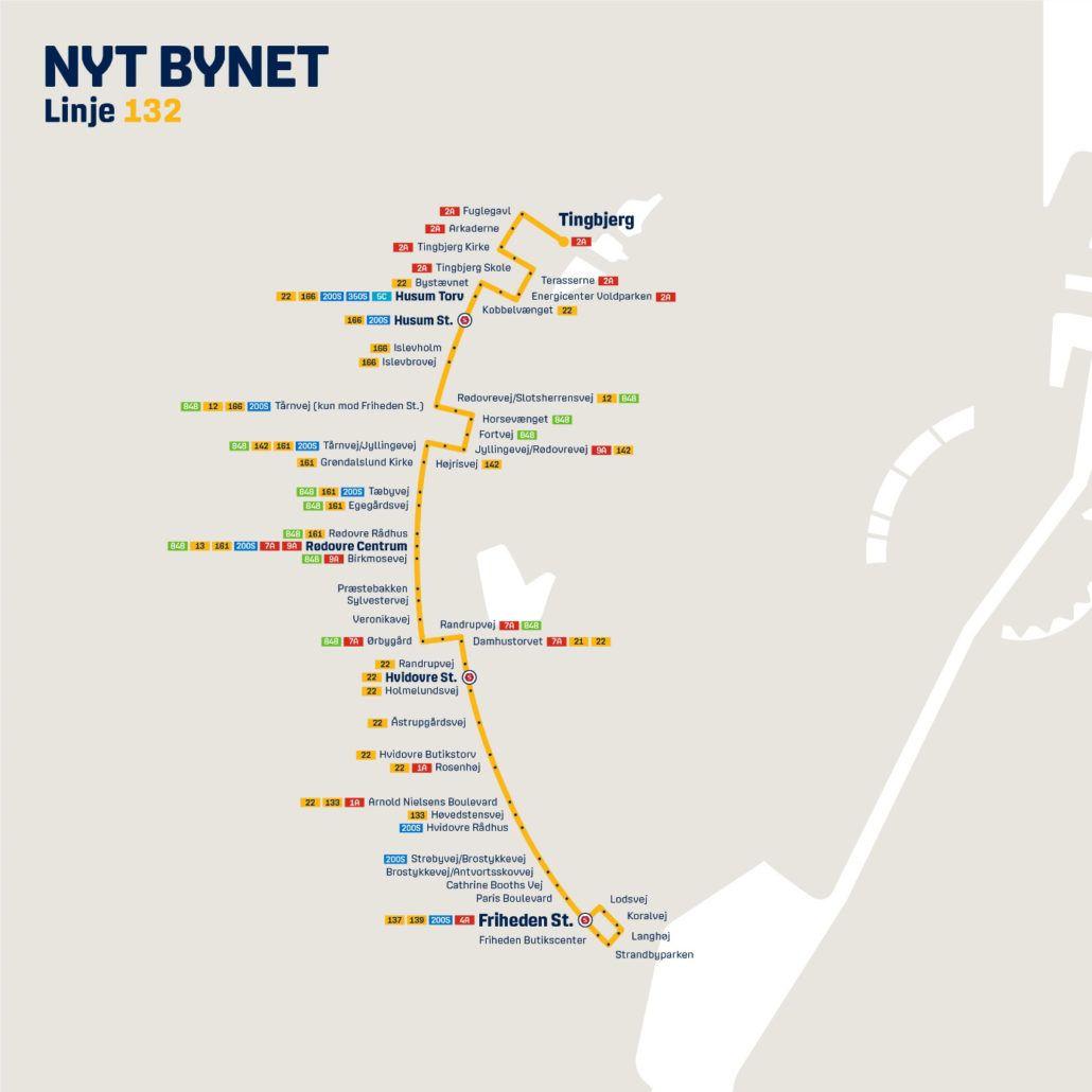 Nyt Bynet linje 132 Valby