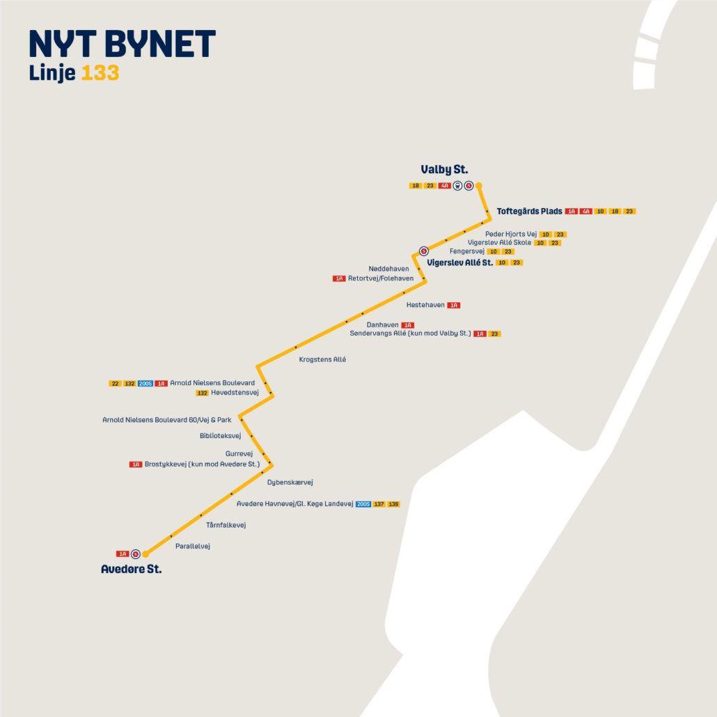 Nyt Bynet linje 133 Valby