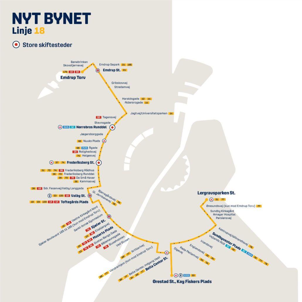 Nyt Bynet linje 18 Valby