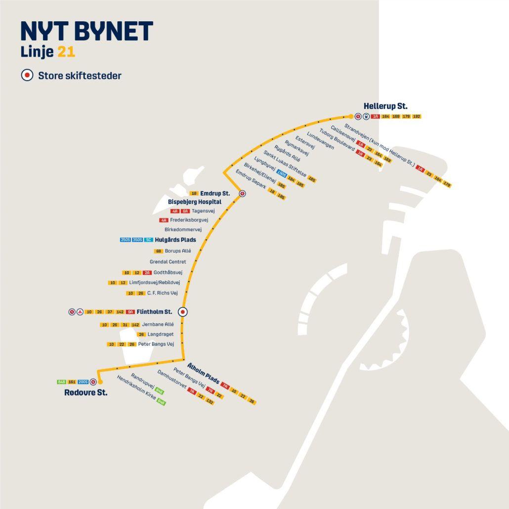 Nyt Bynet linje 21 Valby