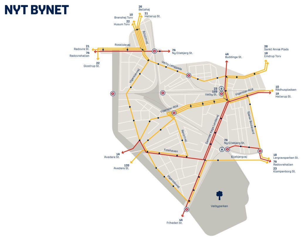 Bydelskort Valby Nyt Bynet 2017
