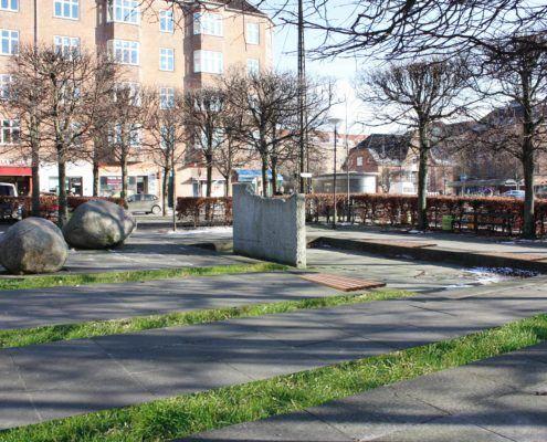 Toftegårds Plads Nord forslag til begrønning Valby