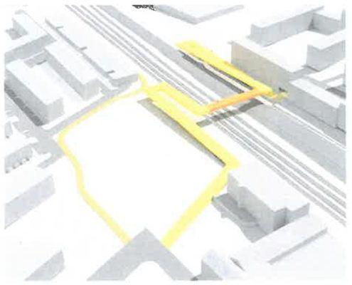 Løsning 1 bro fra screening af stiforbindelse Grønttorvet Valby