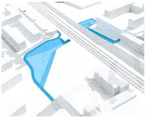 Illustration løsning 5 tunnel stiforbindelse Grønttorvet Valby