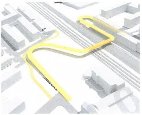 Løsning 2 bro fra screening af stiforbindelse Grønttorvet Valby