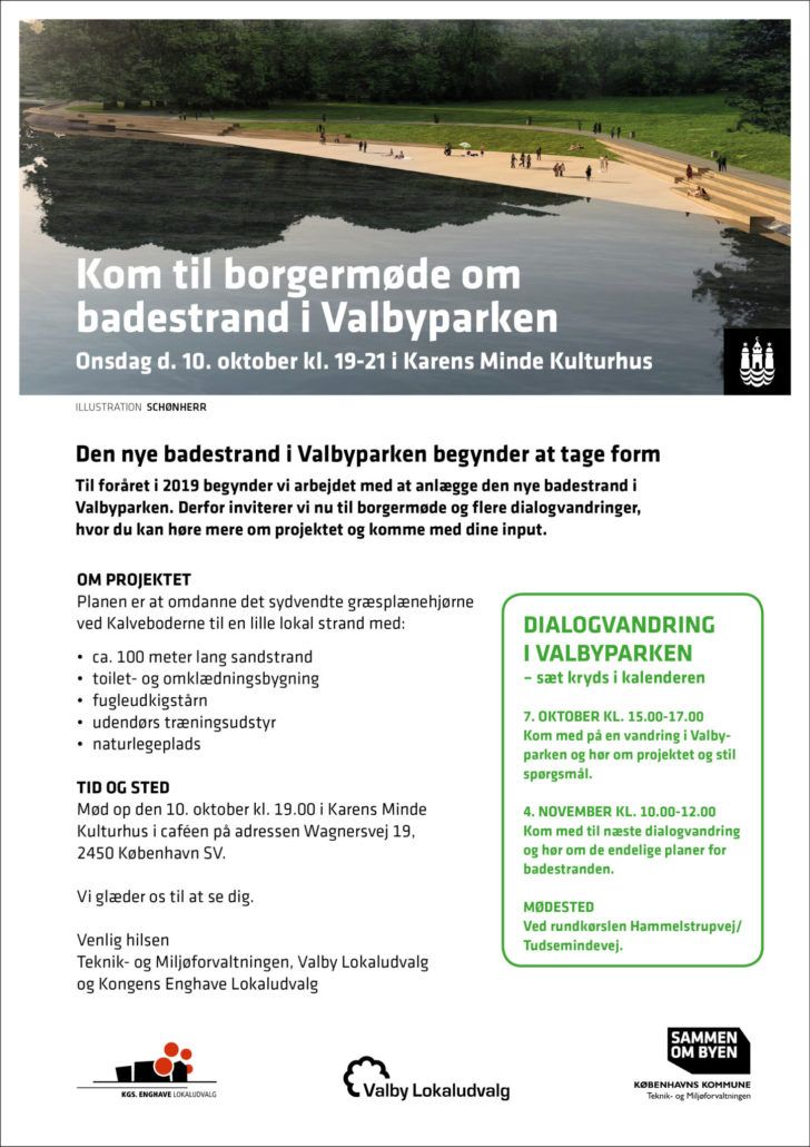 Badestrand i Valbyparken borgermøde