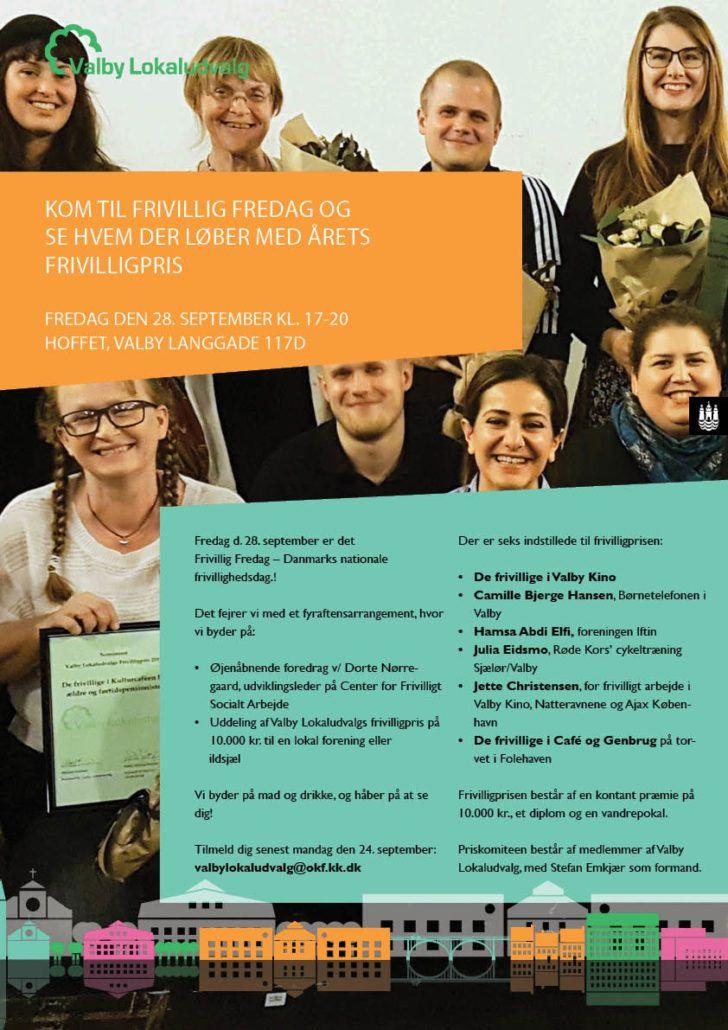 Frivillig Fredag invitation plakat 2018