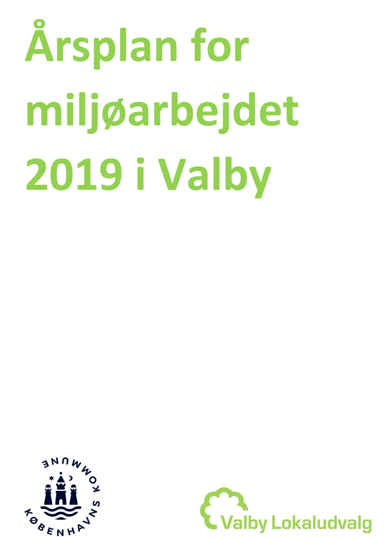 Årsplan for Miljøarbejdet i Valby 2019 forside