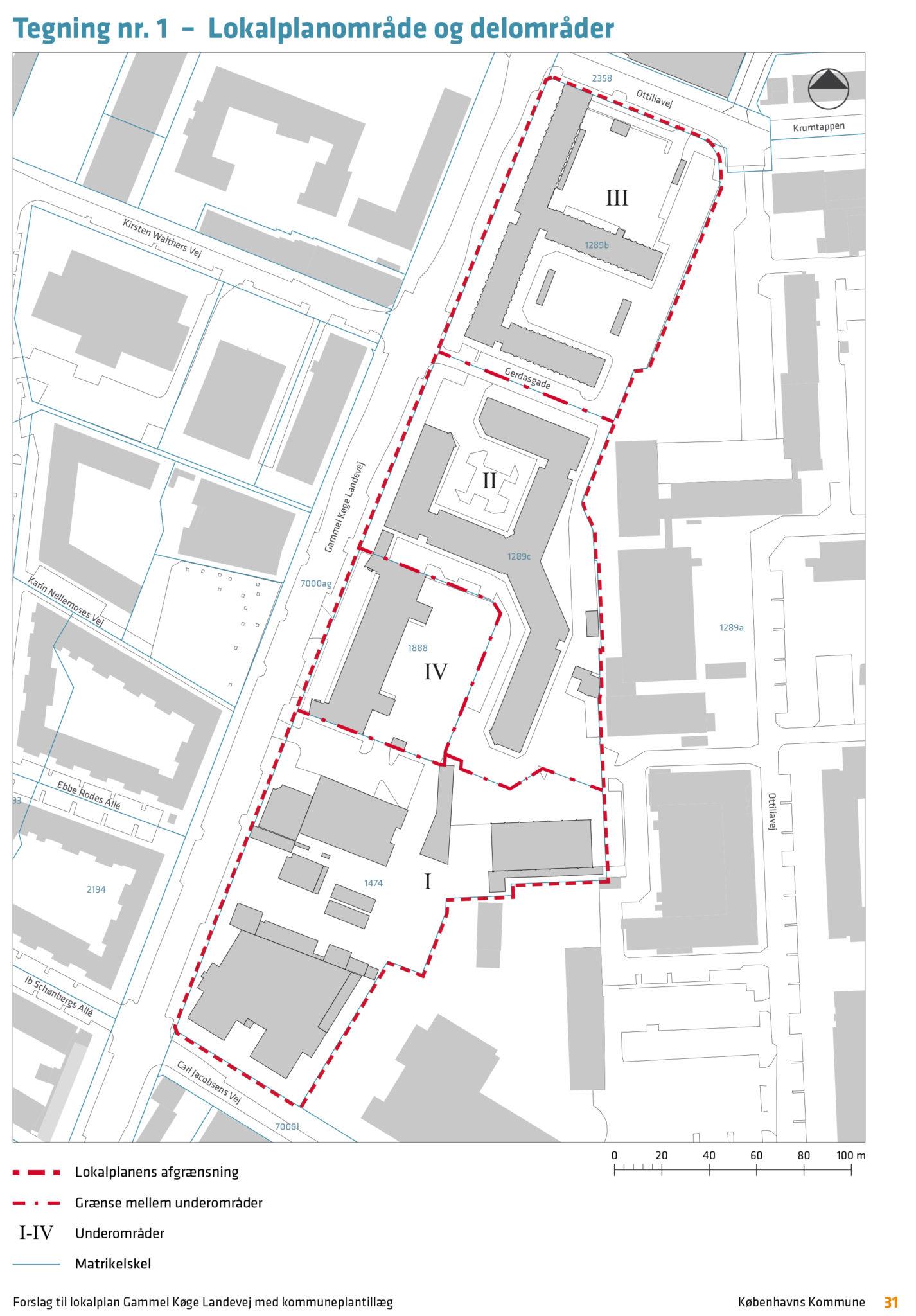 lokalplan gl. køge landevej lokalplanområde og delområder