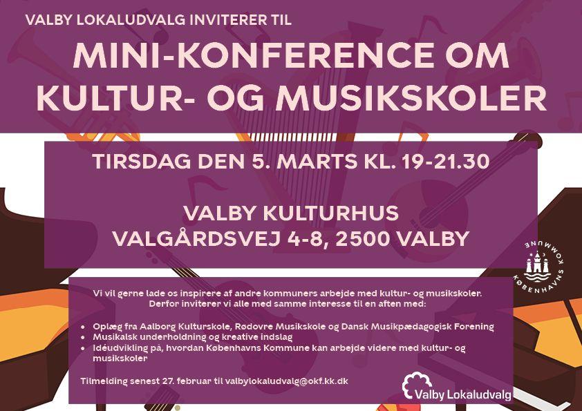 Invitation til konference kultur og musikskoler