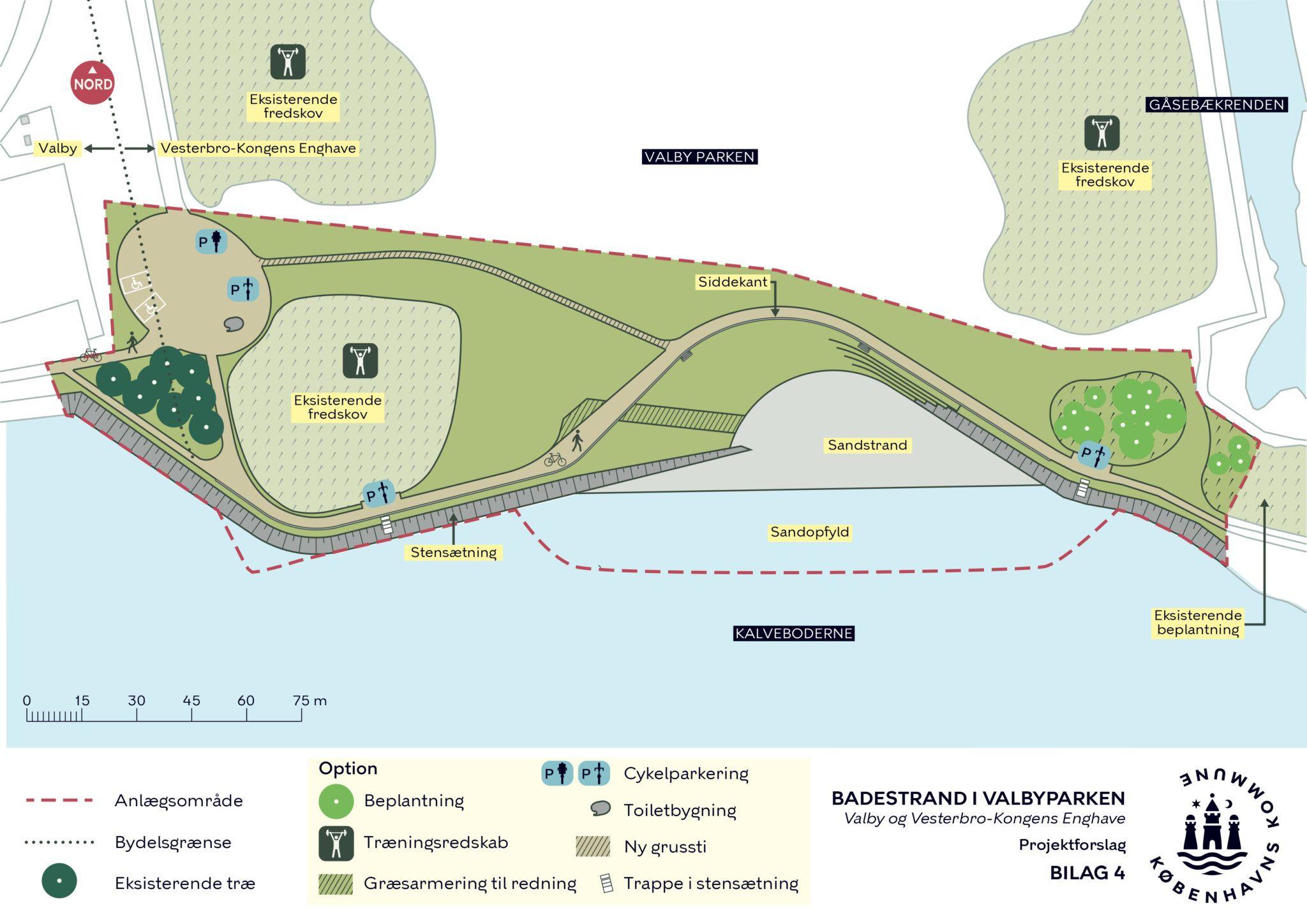 Badestrand i Valbyparken projektforslag 2019