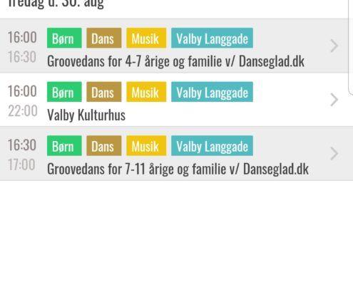 Valby Kulturdage app screenshot