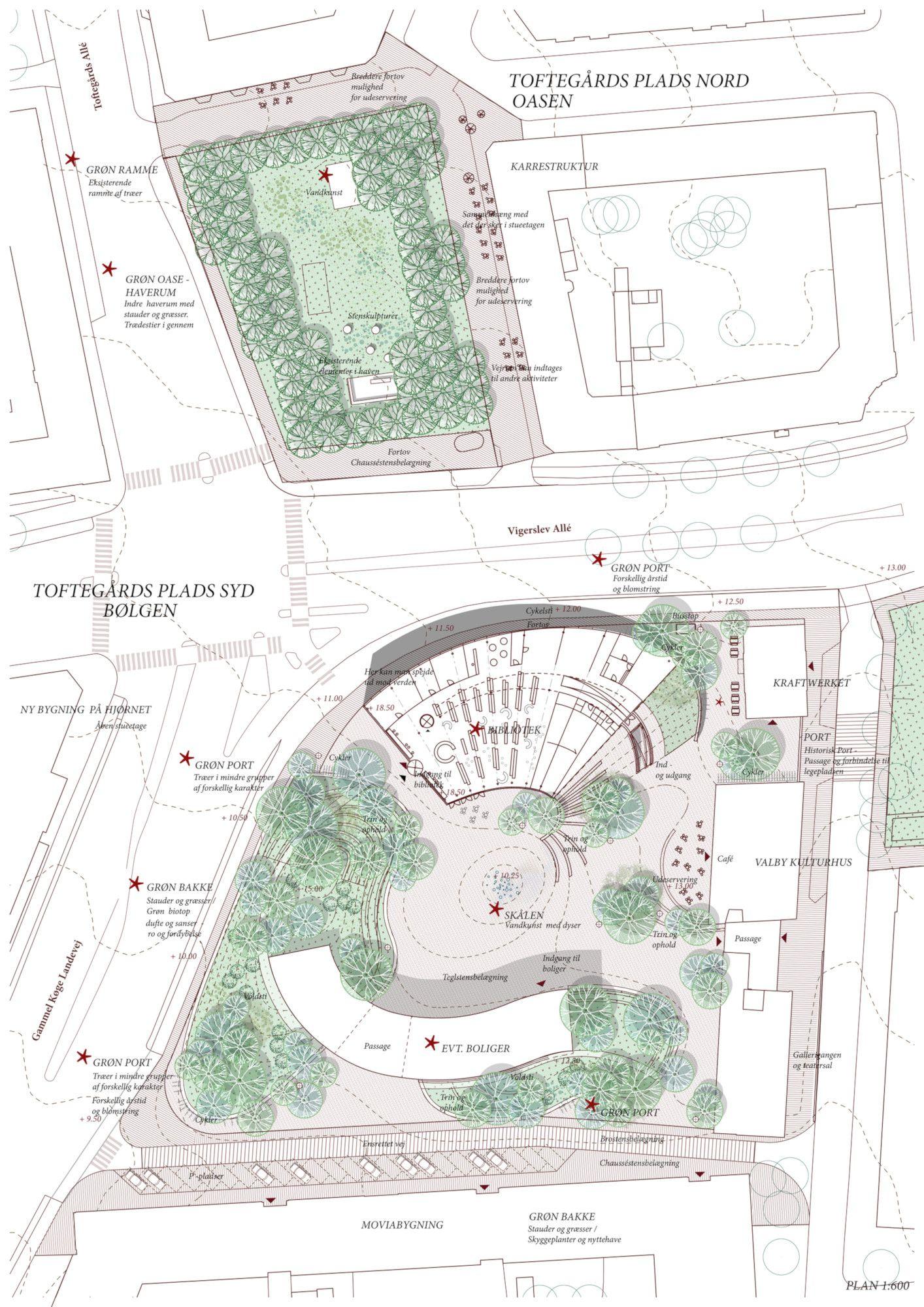 Visualisering Toftegårds Plads
