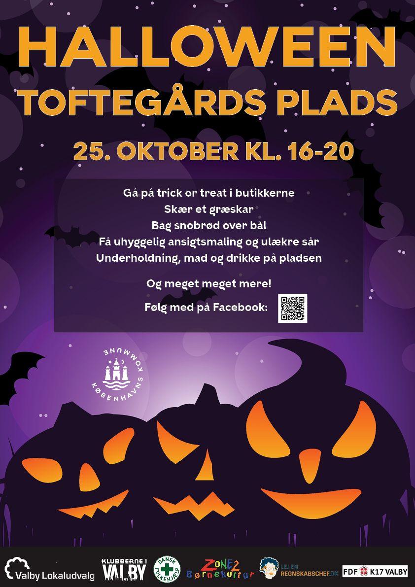 Halloween Toftegårds Plads Valby plakat 2019