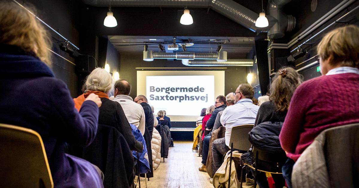 Borgermøde Saxtorphsvej reportage nyhed deling