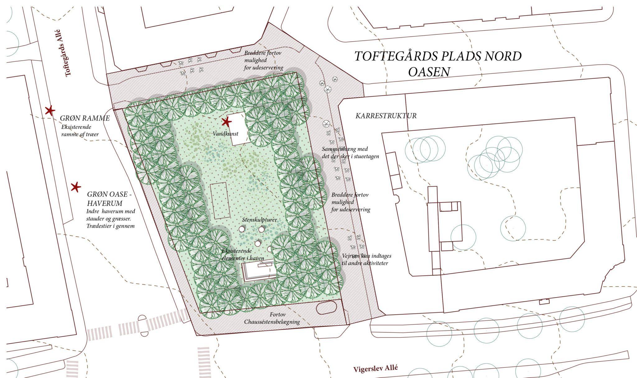 Toftegårds Plads Nord visualisering