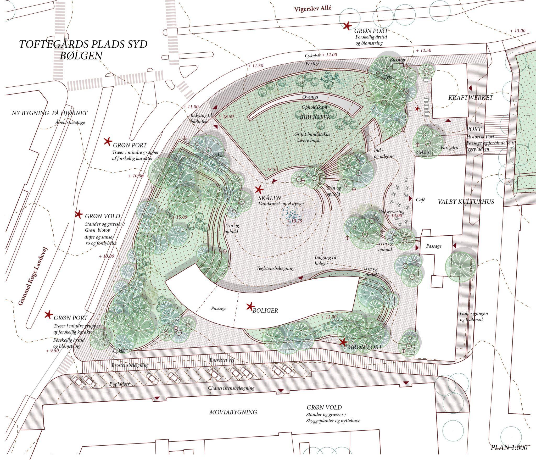 Toftegårds Plads Syd visualisering