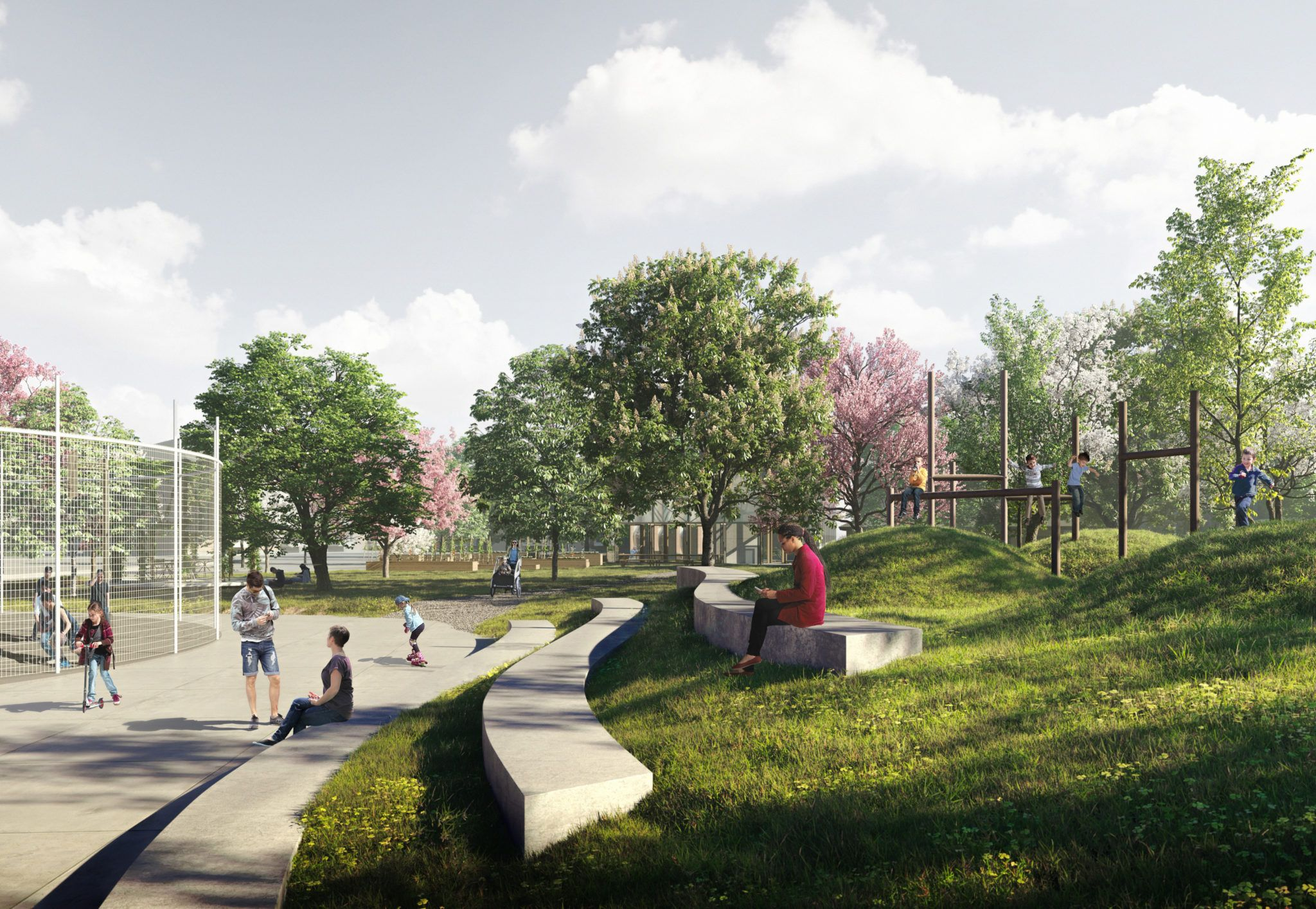 Skitseprojekt for det centrale byrum i Folehavekvarteret_HAVEN_aktivitetspladsen