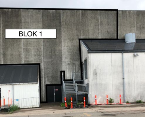 Valby-Hallen gavlkunst blok 1