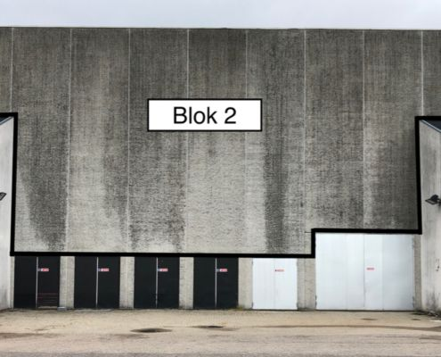 Valby-Hallen gavlkunst blok 2
