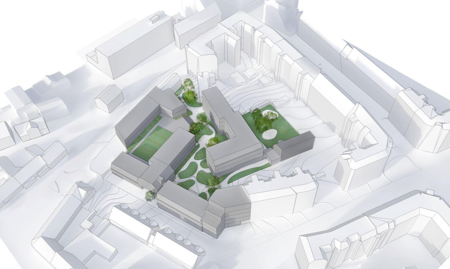 Visualisering ny lokalplan mølle alle og lillegade
