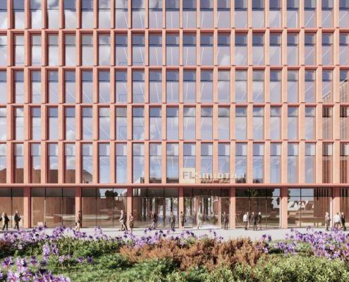 FL Smidth nyt hovedkontor indgang visualisering