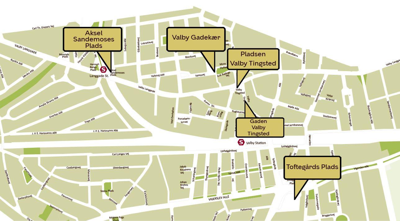 Afspærrede oplevelseszoner Valby Kulturdage 2020