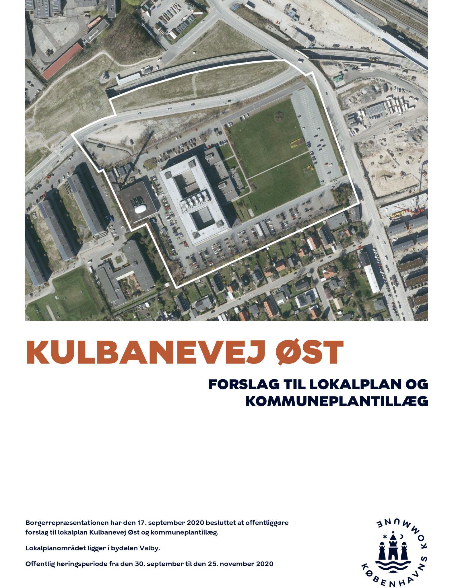 Kulbanevej Øst - lokalplanforslag-1 forside