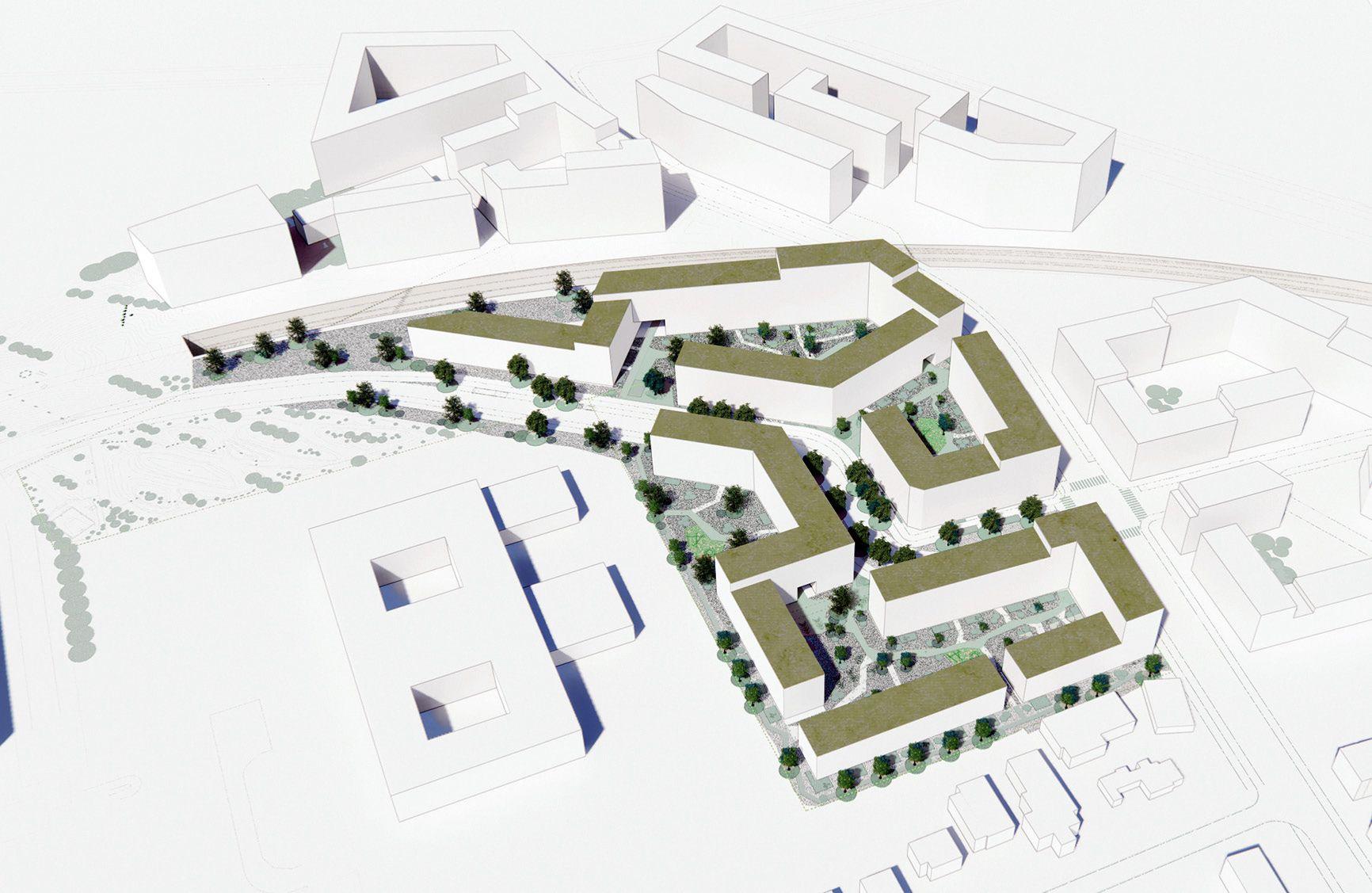 Lokalplan Kulbanevej Øst visualisering