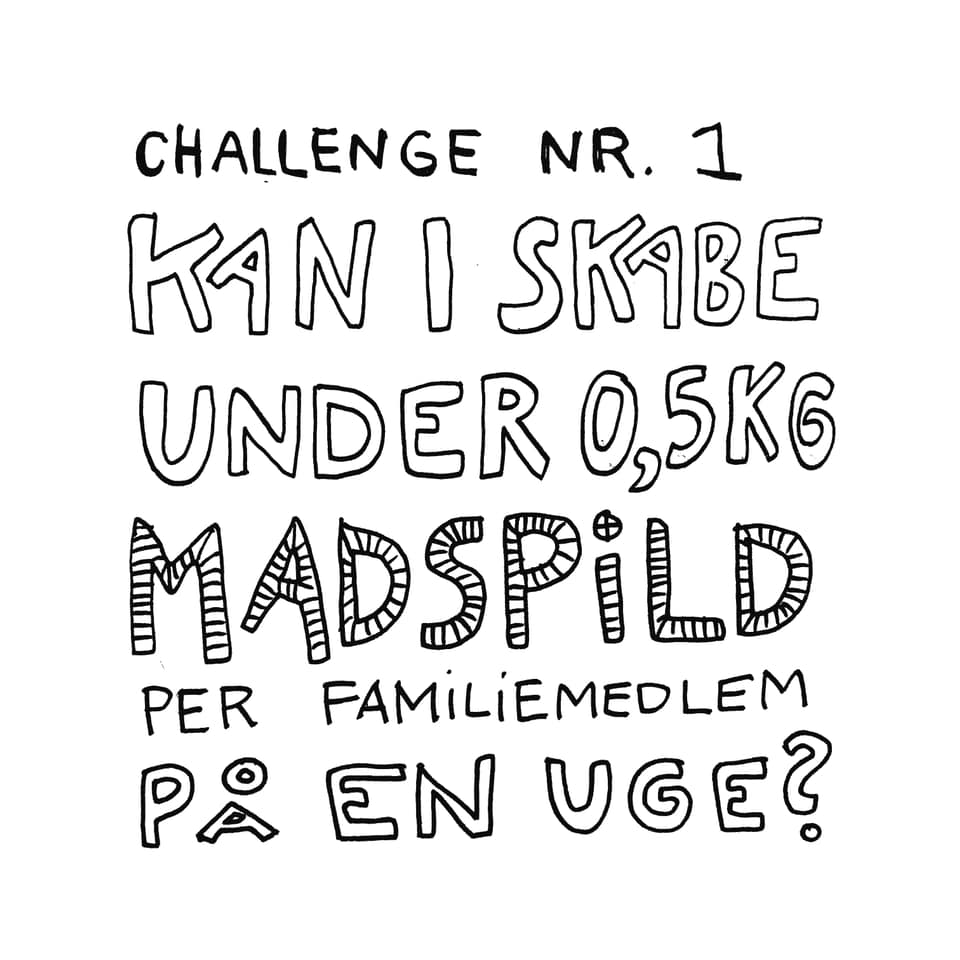 Challenge nr 1 Klimakærlig Familiemad