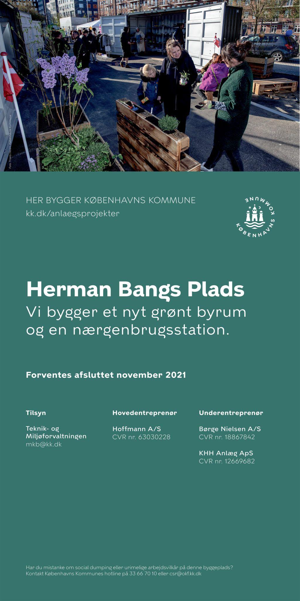 Herman Bangs Plads byggeplads-skilt