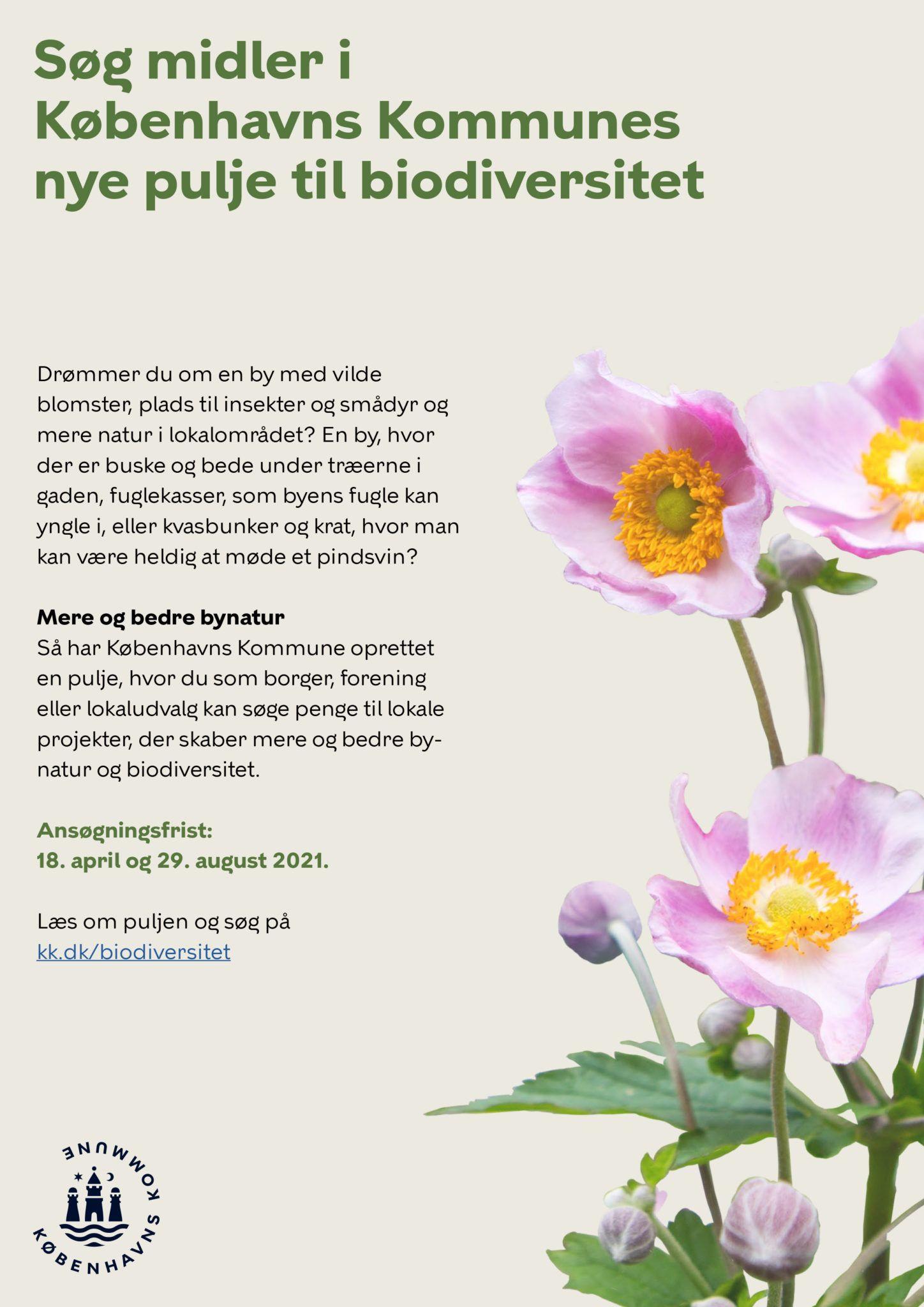 Pulje til biodiversitet plakat