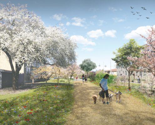 Kirsebærhaven parkindgang fremtidig