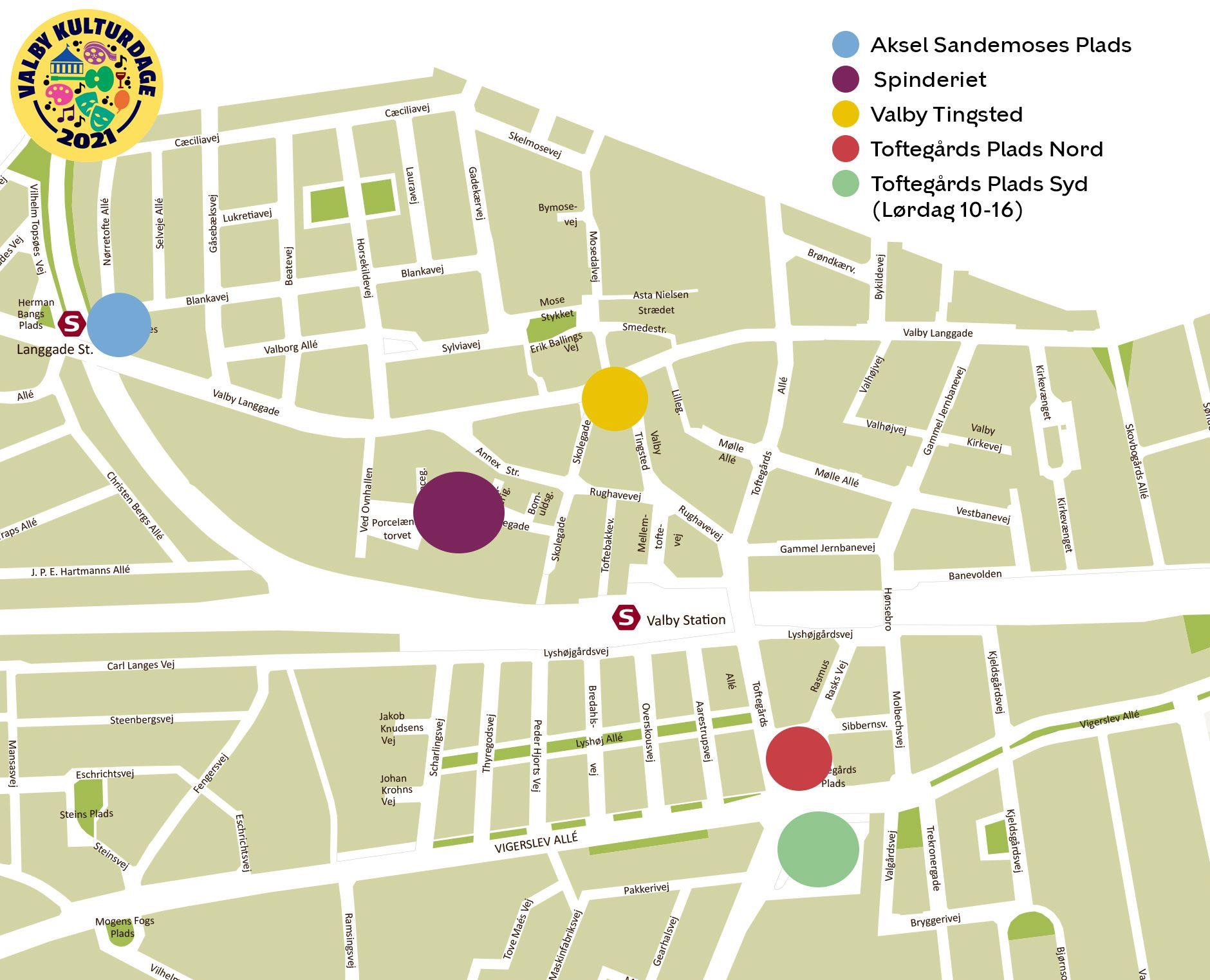 Valby Kulturdage 2021 aktivitetsområder