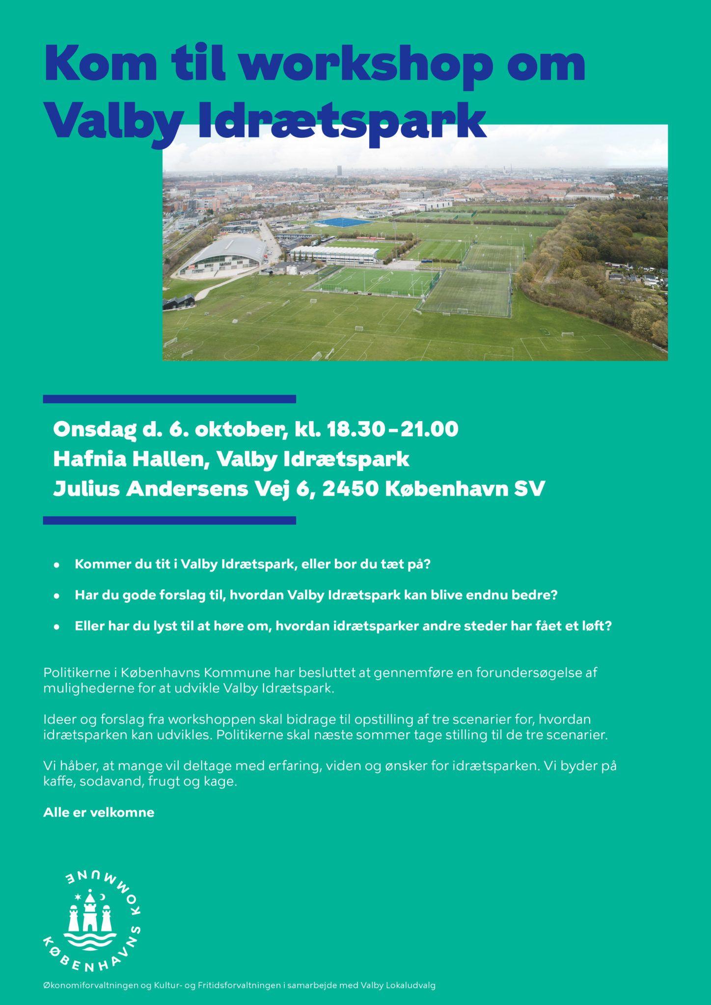 Invitation til Workshop Valby Idrætspark