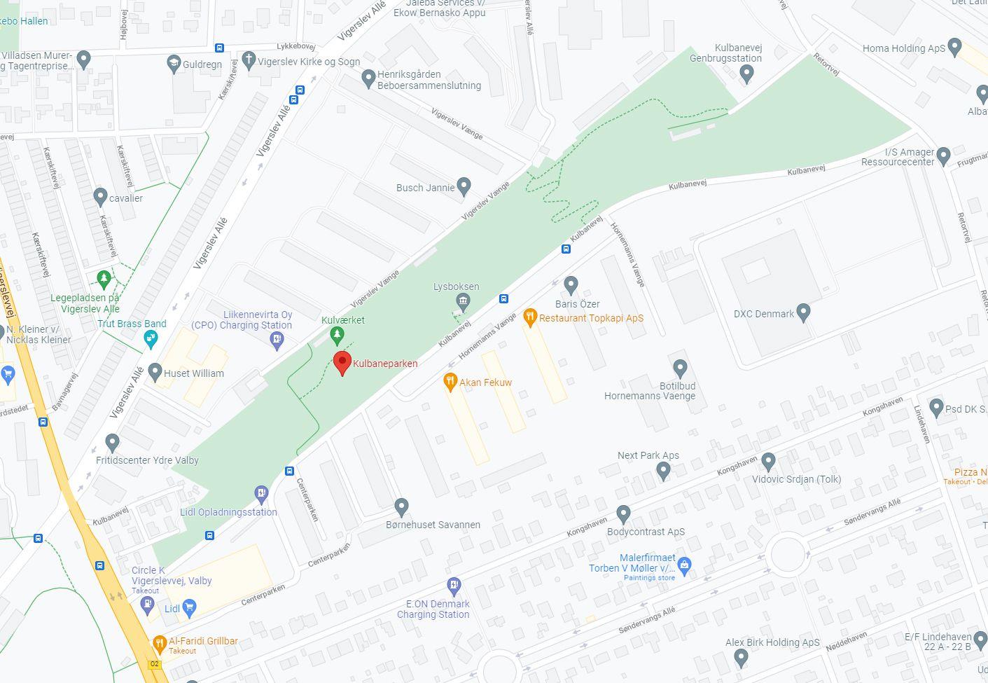 Kulbaneparken maps