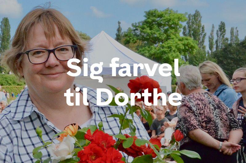 Knap forsiden afskedsreception Dorthe